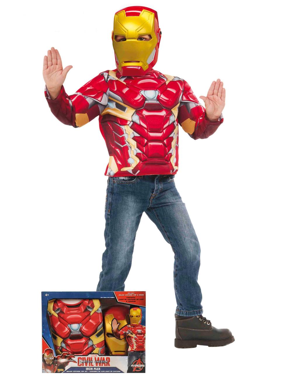 Iron Man Kostum Set Lizentartikel Fur Kinder Rot Gelb Dieses Iron Man Kostum Set Besteht Aus Einem Oberteil Und Einer M Masken Kinder Kinder Kostum Iron Man