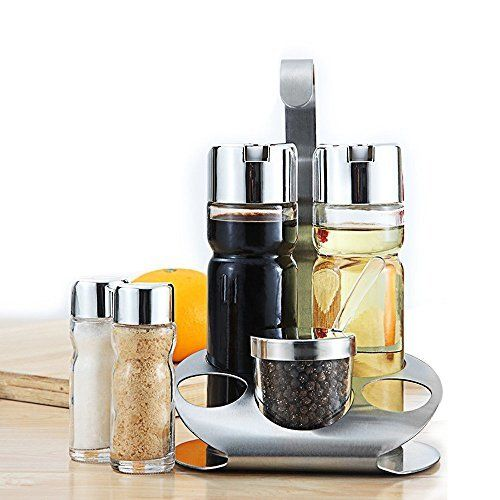 youlanda olive oil and vinegar dispensers bottle setincludes glass cruet set and small sal in on kitchen organization oil and vinegar id=81760