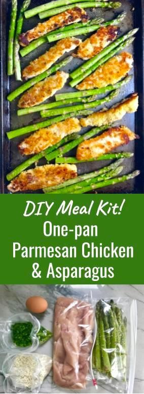 This super easy recipe just got easier i have updated this post to i have updated this post to include a prep ahead do it yourself meal kit this one pan parmesan crumb chicken and asparagus is crispy healthy filling solutioingenieria Choice Image