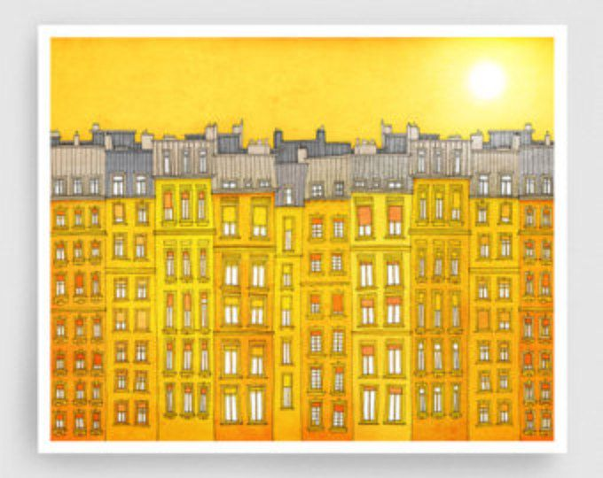 Paris centre - Paris illustration Fine art illustration Art Poster ...