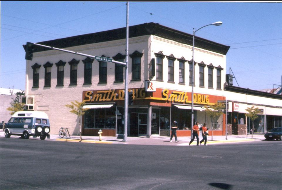 Remember this? Smith Drug on the corner of Higgins and