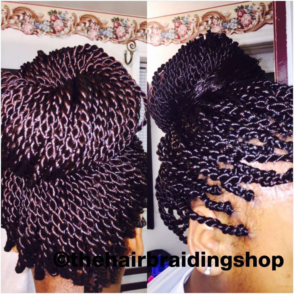Medium size SENEGALESE twists African hair braiding Long ... |Medium Senegalese Twists Bun