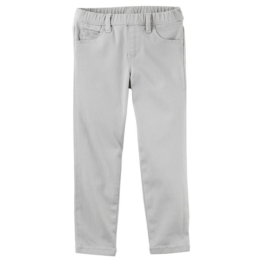 Toddler Girl Carters Twill Uniform Shorts Beige, 6