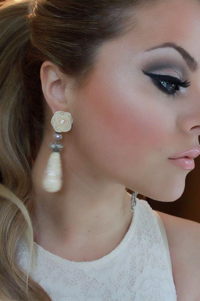 Maquillaje para vestido blanco de fiesta