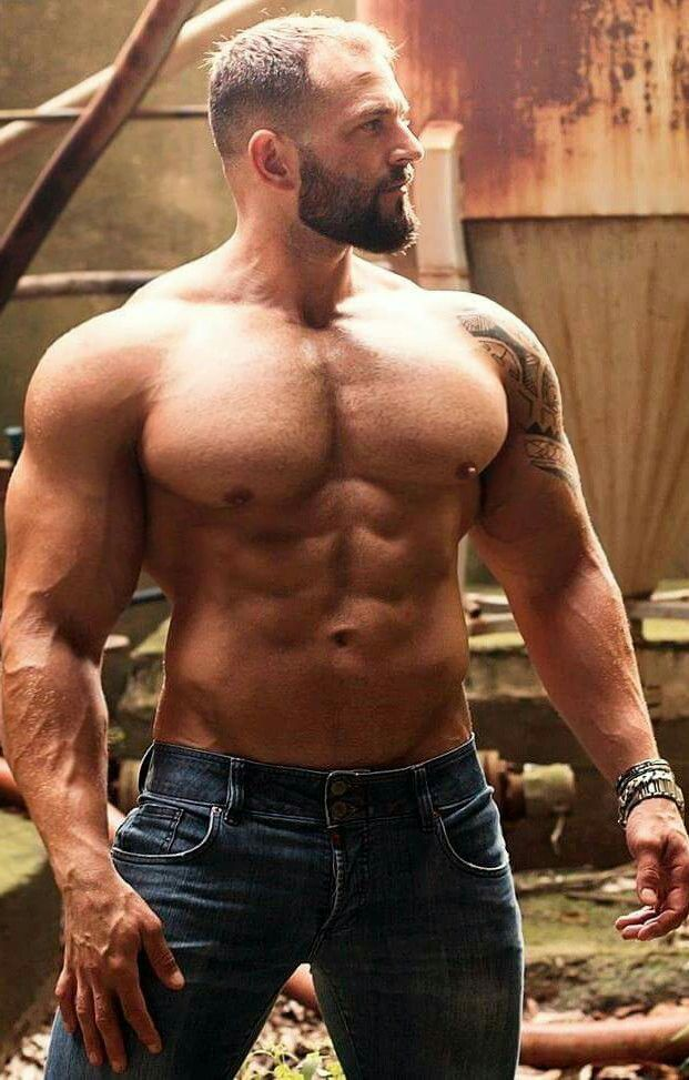 Sexy hairy muscular men