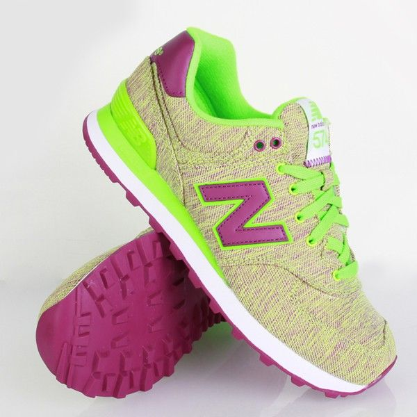 new balance 574 purple and green