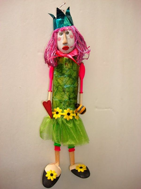DOLL FROM WASTE MATERIAL
