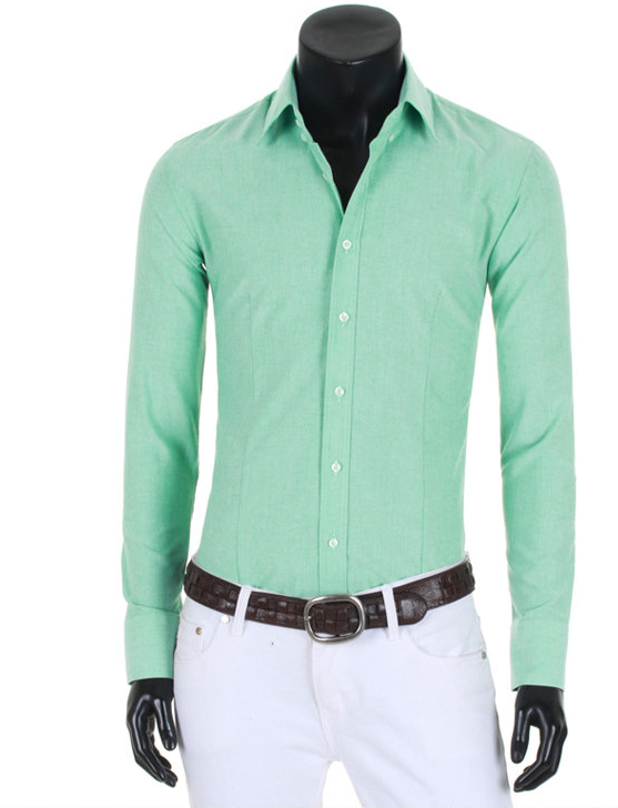 Seafoam green shirt. love the white pants. | Male Fashion ...