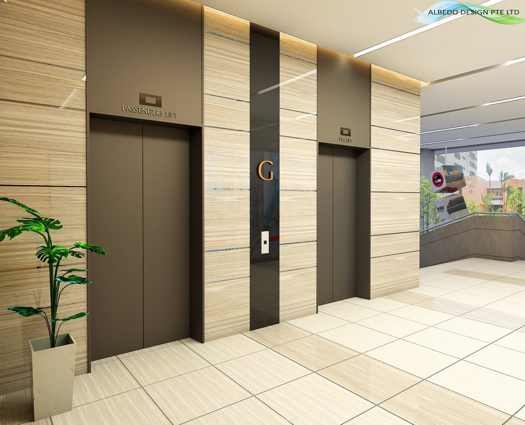 Commercial Project // Building // Entrance // Lift ...