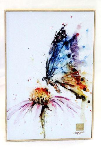 Wild Rose By Annemiek Groenhout Schmetterling Aquarell