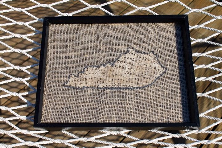 Kentucky Burlap Wall Art by UniqueSheltons on Etsy https://www.etsy.com/listing/231970052/kentucky-burlap-wall-art