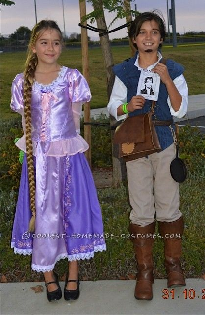 Disney S Cutest Couple Costume Rapunzel And Flynn Ryder From Tangled Halloween Costume Cont Cute Couples Costumes Couples Costumes Cool Halloween Costumes