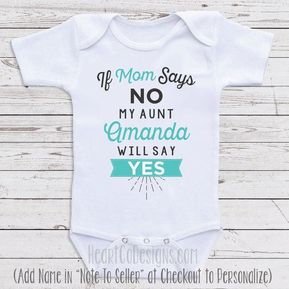 Cute baby clothes if mom says no my aunt will long or short cute baby clothes if mom says no my aunt will long or short sleeve for babies baby shower gifts newborn clothing baby clothes j14 negle Gallery