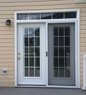 Legacy steel patio door with internal colonial grids internal legacy steel patio door with internal colonial grids internal blinds installed by the fredericksburg store planetlyrics Image collections