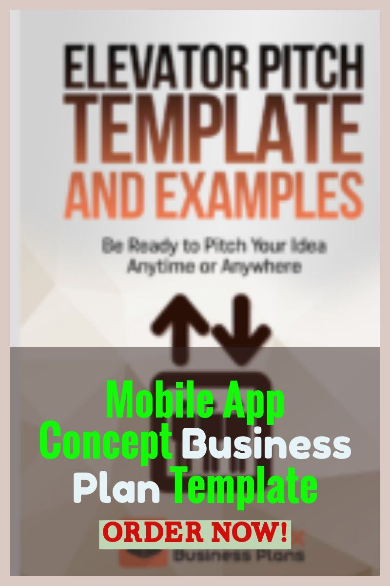 Mobile App Concept Business Plan Template Business Planning