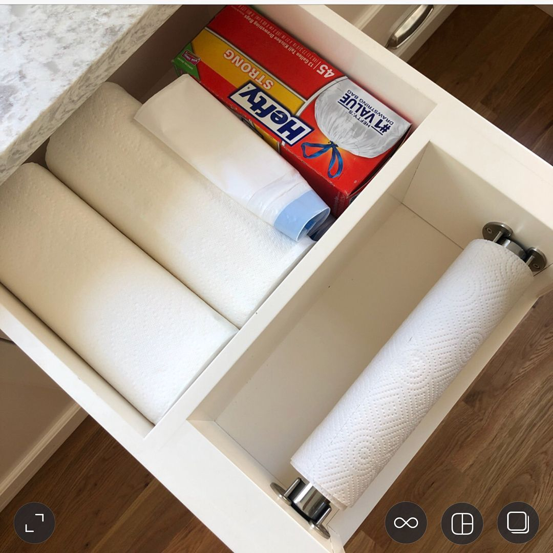 WhitneyBrook Farm Home on Instagram Without a doubt the first thing visitors notice and love is our builtin paper towel holder Its actually a drawer Swipe to see thebuilt...
