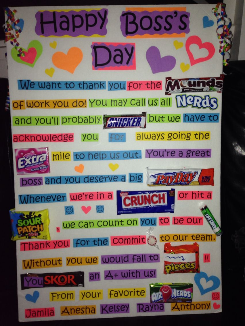 BOSSS DAY SURPRISE This Was Such A Fun And Creative Gift For Bosss Day Great Candy Gram Idea