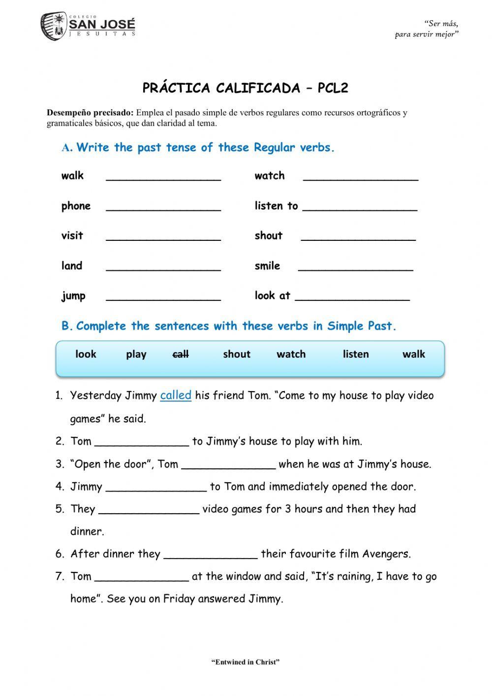 Simple Past Regular Verbs Online Activity For 3er Grade Regular Verbs Verbs Third Grade Simple Past Tense [ 1413 x 1000 Pixel ]