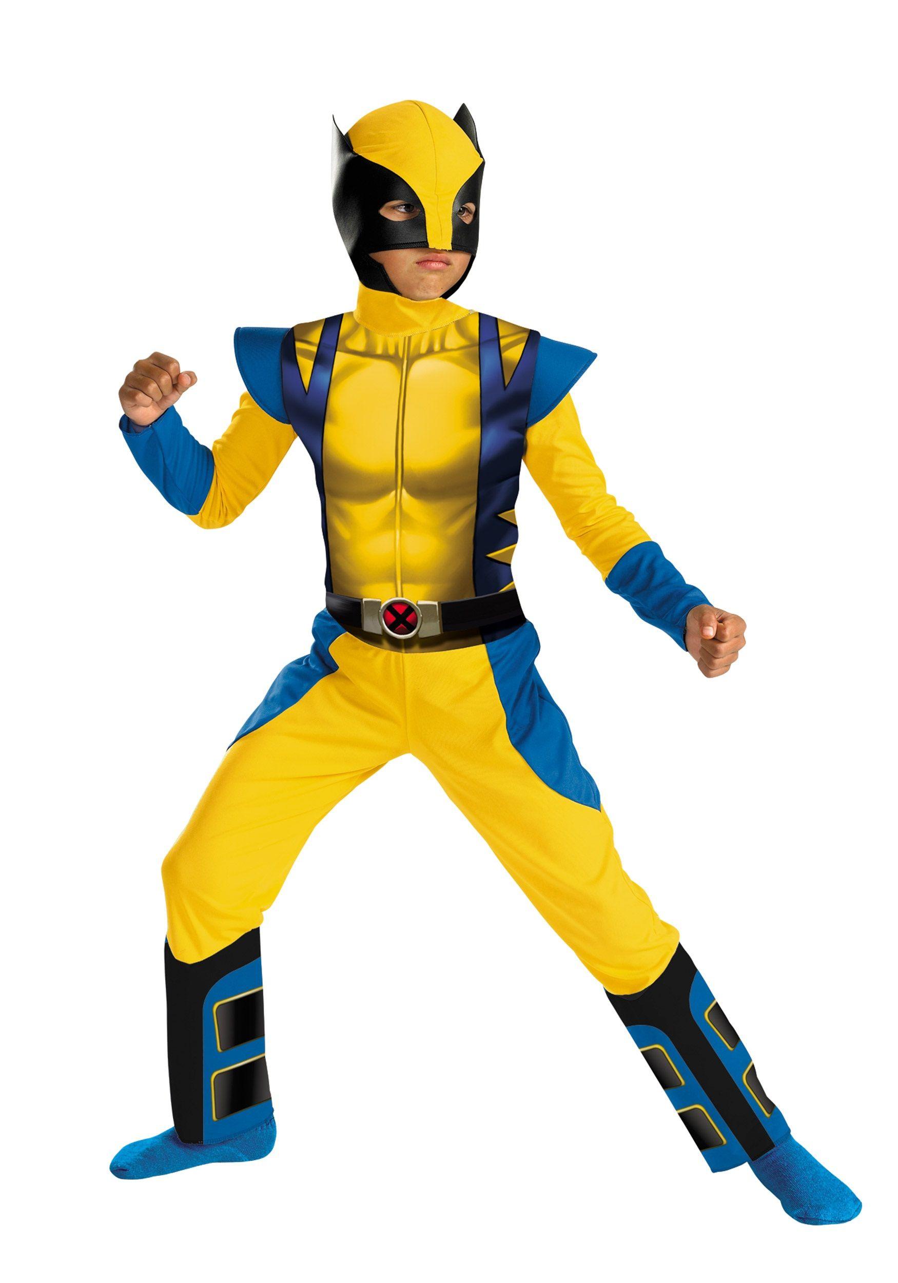 Wolverine X-Men Marvel Comics Superhero Fancy Dress Up Halloween Adult Costume