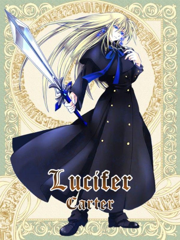 Lucifer Carter Ảnh nhóm, Anime, Mắt xanh lam