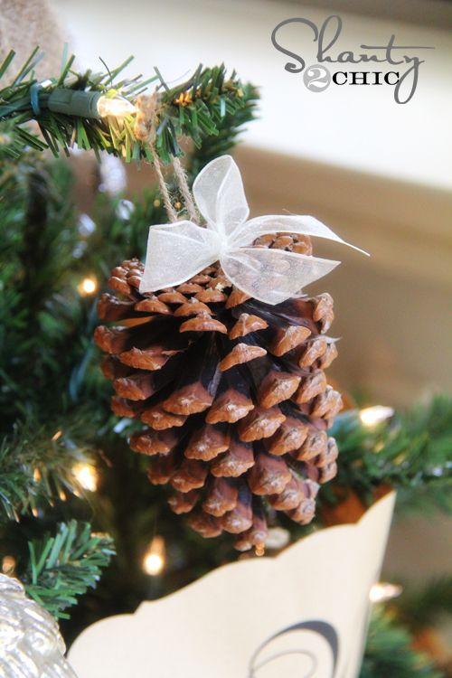 Diy Pinecone Ornaments My Tree