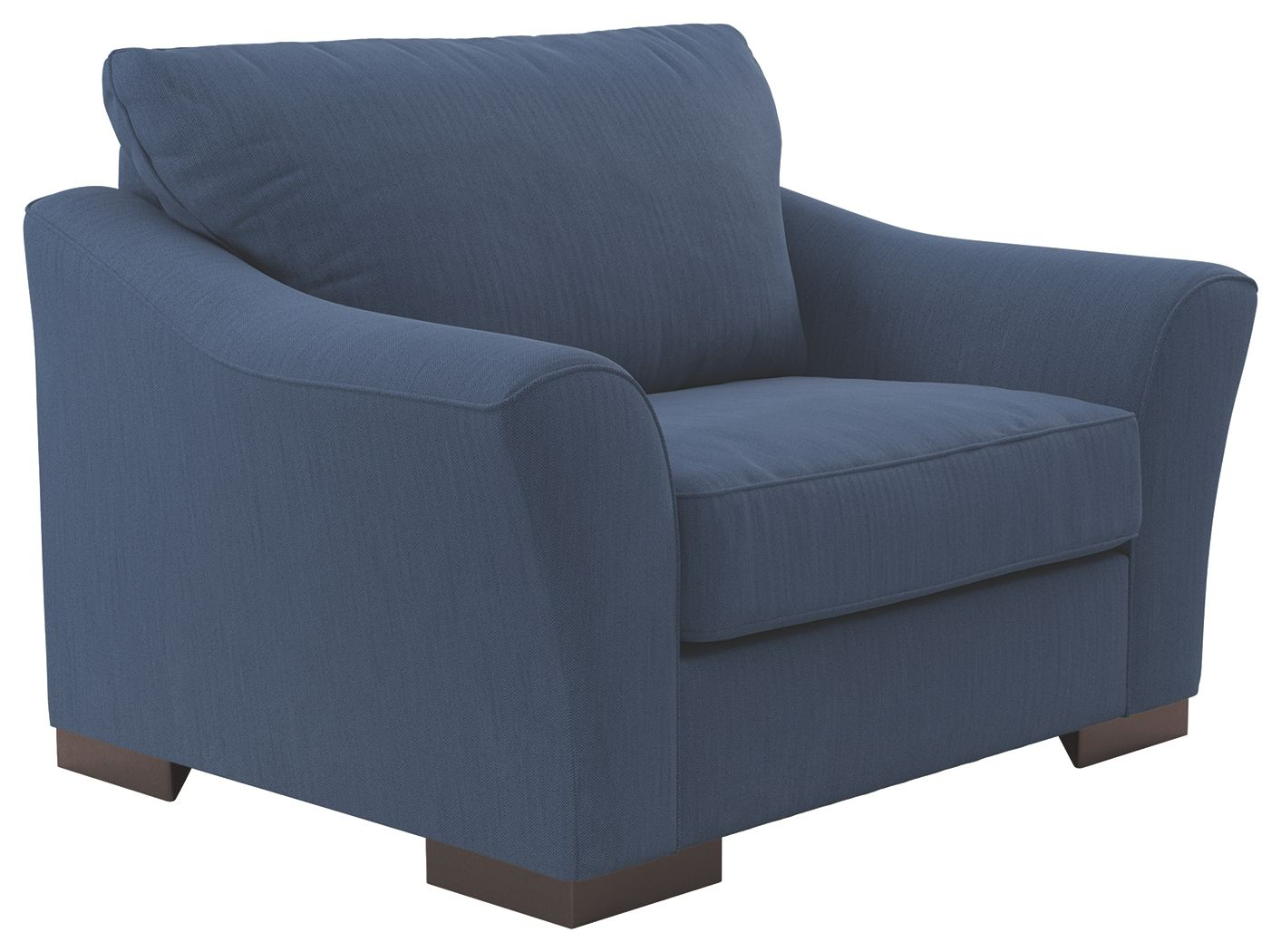 Bantry Nuvella Oversized Chair Indigo In 2020 Oversized Chair