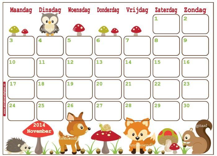 Print Je Eigen Kalender Elke Maand Een Nieuwe Kalender Om