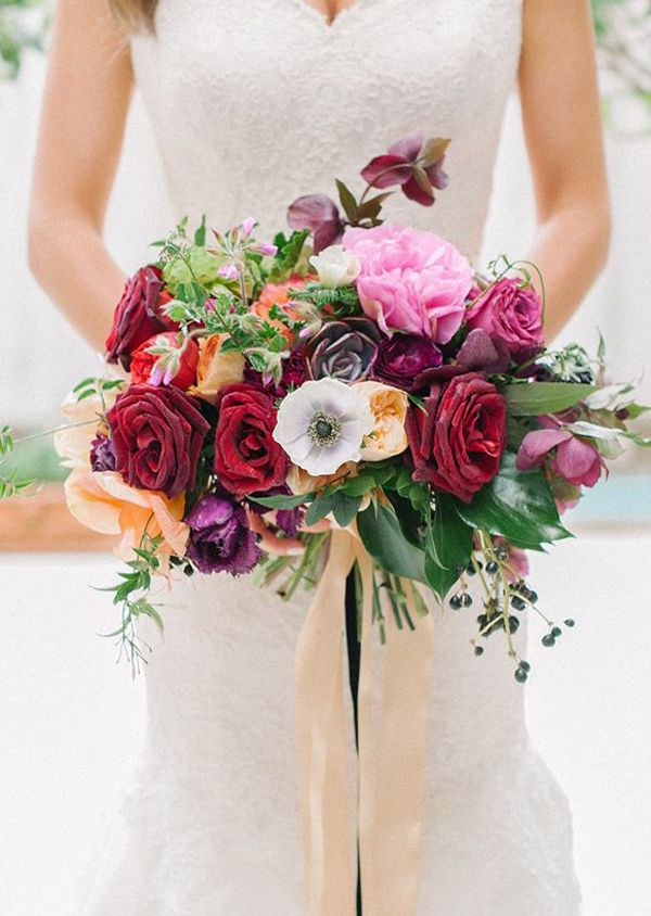 garden bouquet. Top 25 Wedding Bouquets-Purple Red Garden Bouquet By Blush Photography E