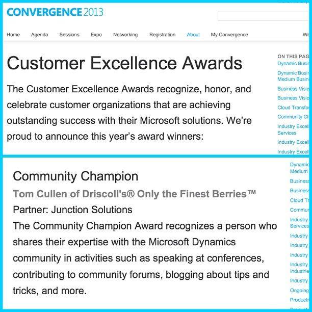 Congrats To Our Cio Tom Cullen Microsoftdynamics Hiring Driscolls Microsoft Dynamics Instagram Posts Excellence Award