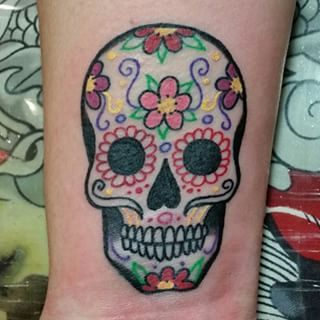 Sugar Skull Tattoo Small Sugar Skull Tattoos Skull Tattoo Candy Skull Tattoo