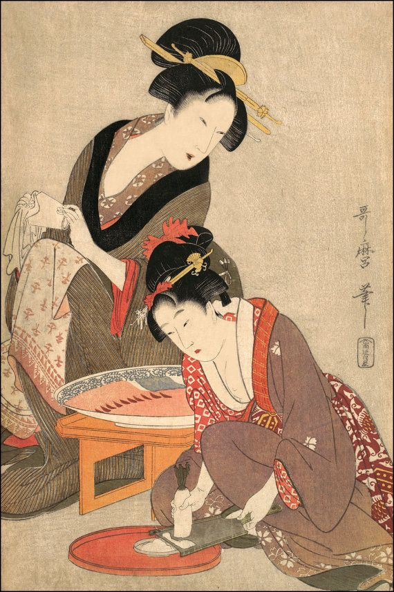 Japanese Woodblock Art. Portrait of a Woman by DaVinciArtPrints