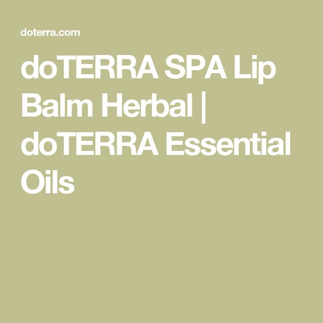 doTERRA SPA Lip Balm Herbal   doTERRA Essential Oils