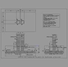 Resultado de imagen de cimentacion de concreto armado corte por fachada