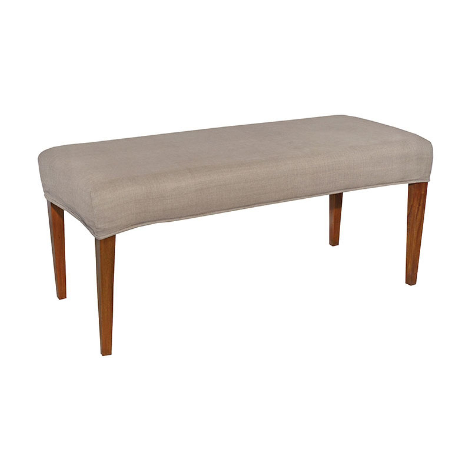 Sterling Couture Covers Double Bench Cover Light Cream Bench Covers Slipcovers For Chairs Dining Chair Slipcovers