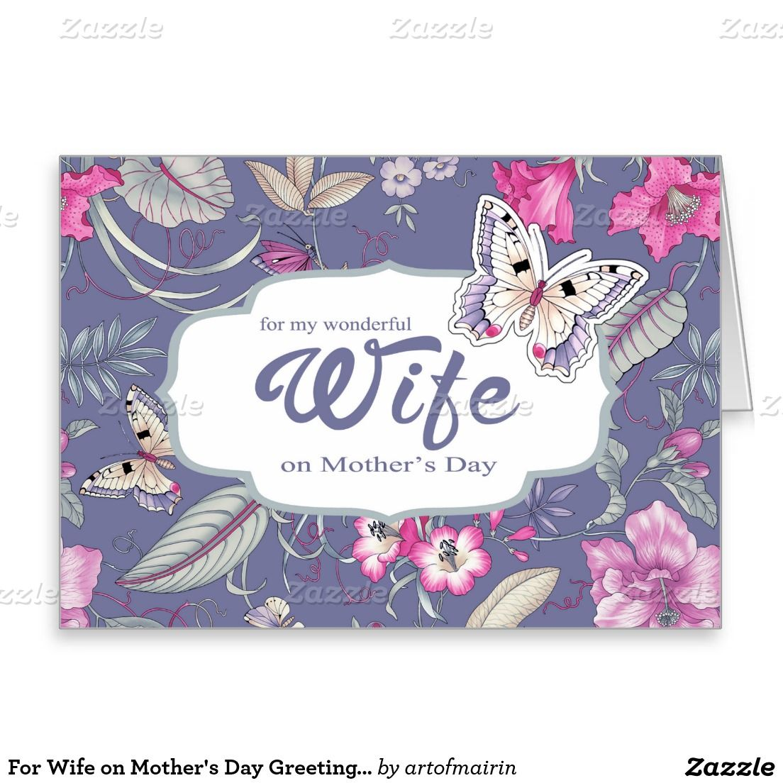 For Wife On Mothers Day Greeting Cards Mothers Day Pinterest