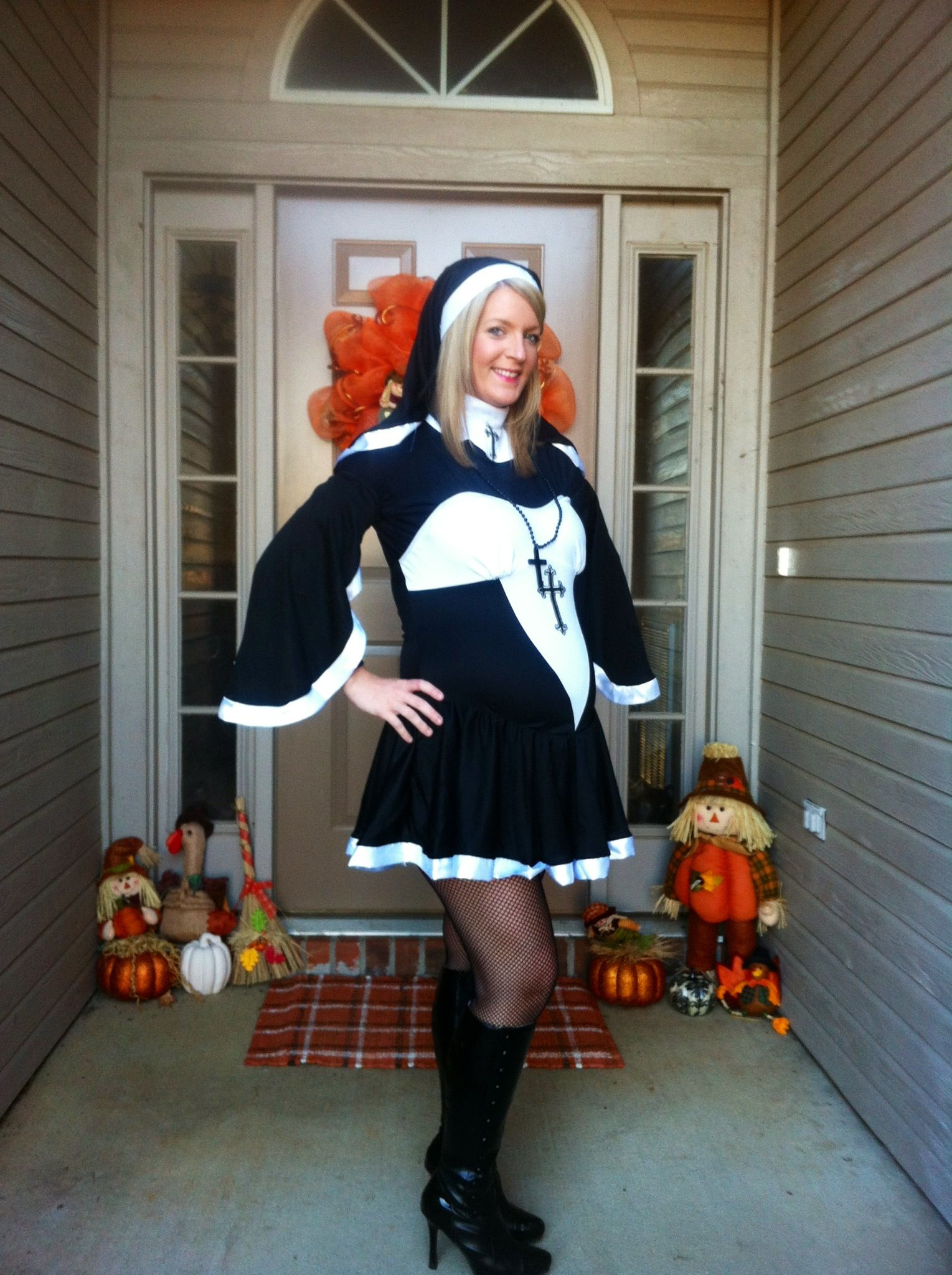 Maternity Halloween Costume This Is My Pregnant Nun Costume My