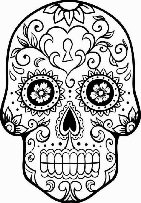 Free Printable Day Of The Dead Coloring Pages Best Coloring Pages For Kids Skull Coloring Pages Coloring Pages Skull Template