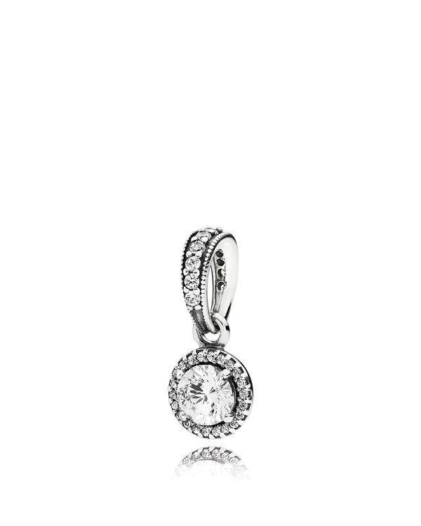 3105a16b7 Pandora Dangle Charm - Sterling Silver & Cubic Zirconia Classic Elegance,  Moments Collection