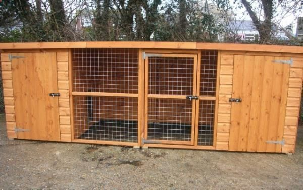 12ft X 4ft X 4ft Double Dog Kennel And Run Cat Rabbit