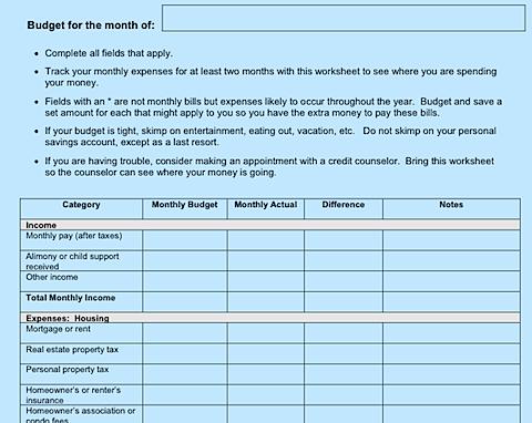 7 free printable budgeting worksheets | Budgeting worksheets ...