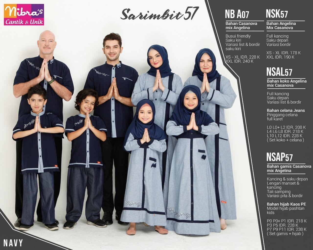 Baju Couple Keluarga Nibras57 Navy Model Pakaian Baju Muslim Model Pakaian Hijab
