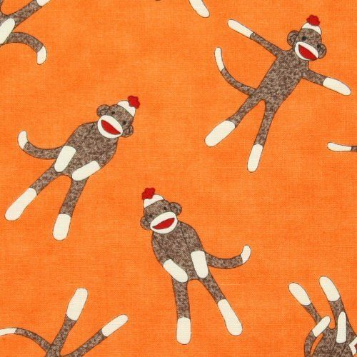 Moda Sock Monkey Fabric only $7.99/yard:  http://lisasstitchingpost.com/product_info.php?cPath=1_64_26_17&products_id=710