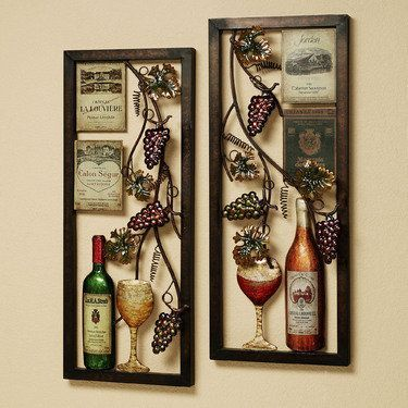 Metal Wall Art Sets Wine Decor Kitchen Wine Theme Kitchen Wine Decor