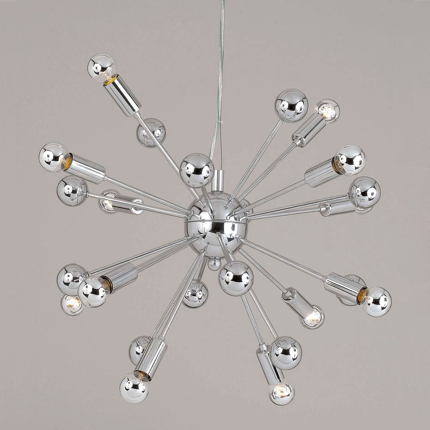 AF Lighting 5695-12H 12 Light Supernova Chandelier, Polished Chrome - Lighting Universe