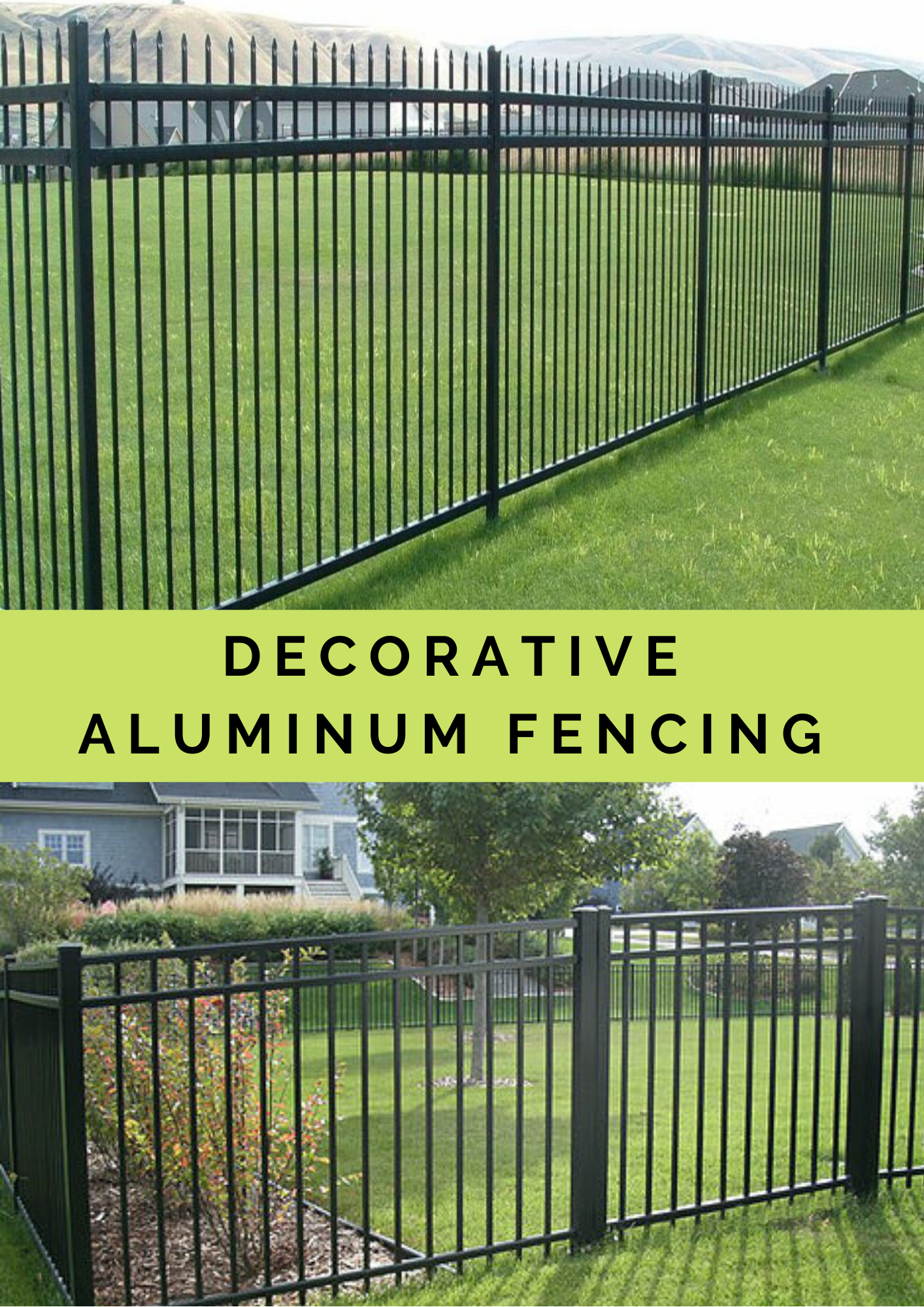 Why You Should Consider Decorative Aluminum Fencing Aluminum Fencing Wrought Iron Fences Iron Fence