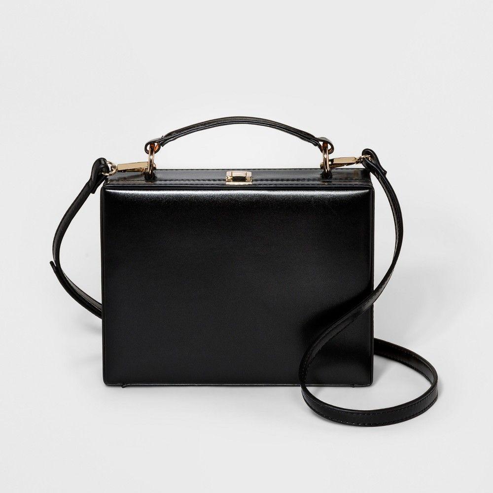 c0e67697122aa Hinge Box Crossbody Bag - A New Day Black