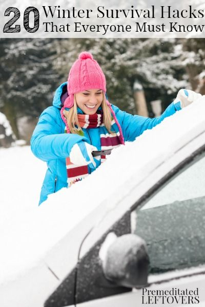 20 Frugal Winter Survival Hacks That Everyone Must Know - These winter survival hacks will help you battle the winter months easily and inexpensively.