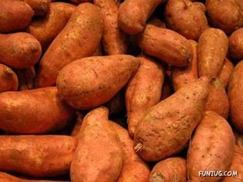 To skin sweet potatoes quickly, soak in cold water