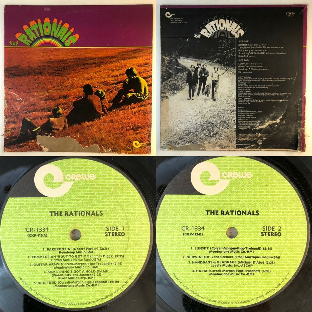 The Rationals Lp Stereo Cr 1334 1969 Vinyl G Tested Plays No Skips Funksoul In 2020 Lps Vinyl Rock N Roll