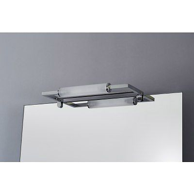 Spiegelleuchte Spirit Clip 320mm Edelstahl-Look Badezimmer Pinterest
